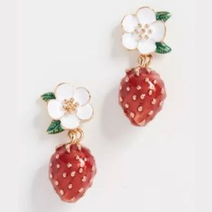 Kate Spade ♠️ NEW Strawberry Flower Drop Earrings
